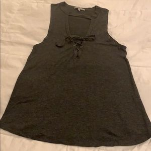 Charlotte Russe Dark Grey Tank Top